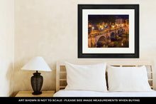 Load image into Gallery viewer, Framed Print, Bridge St Angel Rome Tiber