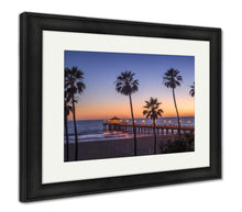 Load image into Gallery viewer, Framed Print, Manhattan Beach Pier At Sunset Los Angeles California