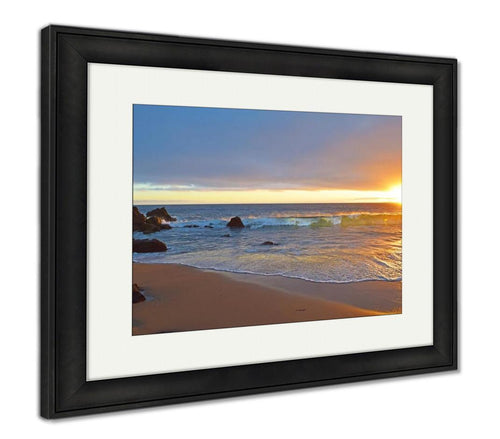 Framed Print, Laguna Beach Sunset