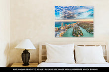 Load image into Gallery viewer, Gallery Wrapped Canvas, Aerial View Of Miami Beach At Sunset