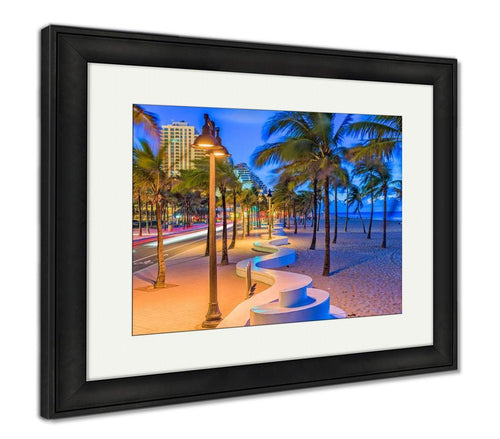 Framed Print, Fort Lauderdale Beach Florida