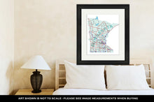 Load image into Gallery viewer, Framed Print, Minnesota State Interstate Map