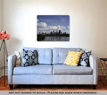 Load image into Gallery viewer, Metal Panel Print, Minneapolis Skyline In The Summer With The Mississippi River