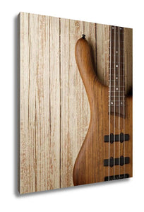 Gallery Wrapped Canvas, Bass Guitar On Wood