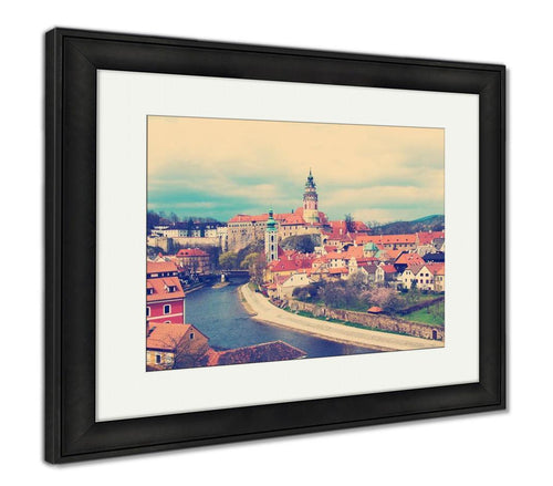 Framed Print, Spring View Of Cesky Krumlov Czech Republic