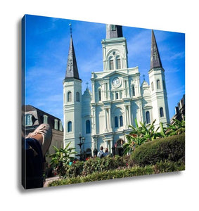 Gallery Wrapped Canvas, White Basillica In New Orleans In Jackson Square