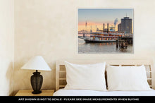 Load image into Gallery viewer, Gallery Wrapped Canvas, New Orleans Paddle Steamer In Mississippi River In New Orleans