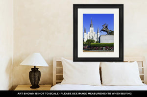 Framed Print, St Louis Cathedral