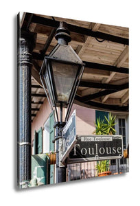 Gallery Wrapped Canvas, French Quarter Cityscape