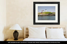 Load image into Gallery viewer, Framed Print, Nubble Lighthouse On Cape Neddick