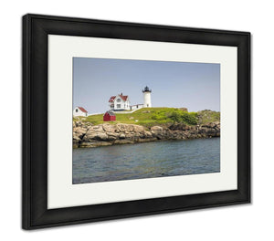 Framed Print, Nubble Lighthouse On Cape Neddick
