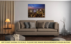 Gallery Wrapped Canvas, New York Skyline