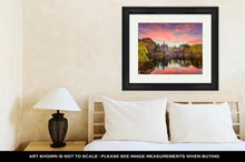 Load image into Gallery viewer, Framed Print, Central Park New York City At Belvedere Castle During An Autumn Twilight