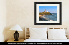Load image into Gallery viewer, Framed Print, MontaUK Point Lighthouse
