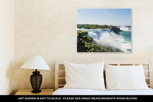 Gallery Wrapped Canvas, Niagara Falls Summer Day New York