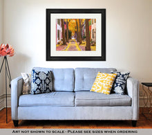Load image into Gallery viewer, Framed Print, Philadelphia Pennsylvania USA Alley In The Fall