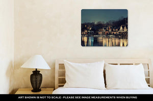 Metal Panel Print, Boathouse Row In Philadelphia As The Famous Historical Landmark