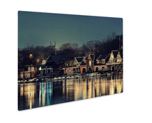 Load image into Gallery viewer, Metal Panel Print, Boathouse Row In Philadelphia As The Famous Historical Landmark