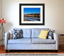 Load image into Gallery viewer, Framed Print, The Famed Philadelphia Boathouse Row In Fairmount Dam Fishway
