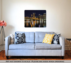 Metal Panel Print, Pittsburgh Skyline At Night
