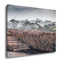 Load image into Gallery viewer, Gallery Wrapped Canvas, Lumber Yard In Portland Town Victoria Australia
