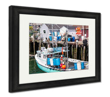 Load image into Gallery viewer, Framed Print, Lobster Boat In A Maine Harbor