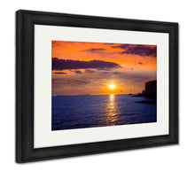Load image into Gallery viewer, Framed Print, Ibiza San Antonio Abad De Portmany Sunset In Balearic Islands Of Spain