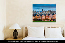 Load image into Gallery viewer, Gallery Wrapped Canvas, San Diego California Cityscape At Alamo Square