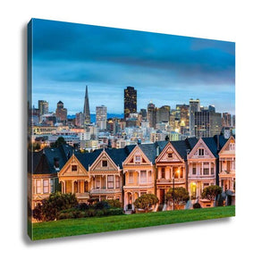 Gallery Wrapped Canvas, San Diego California Cityscape At Alamo Square