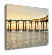 Load image into Gallery viewer, Gallery Wrapped Canvas, Curved Section Of The Landmark Coronado Bridge