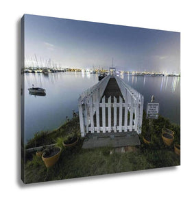 Gallery Wrapped Canvas, White Picket Fences On The Water