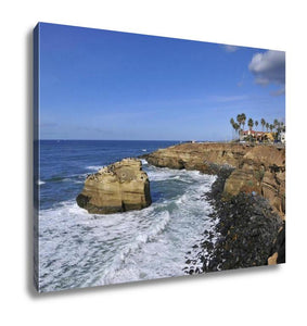 Gallery Wrapped Canvas, View Over Sunset Cliffs San Diego California