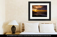 Load image into Gallery viewer, Framed Print, Sunset In La Jolla Beach In San Diego Ca USA