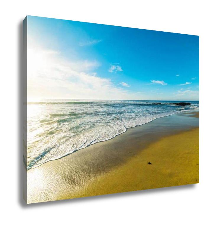 Gallery Wrapped Canvas, Golden Shore In La Jolla