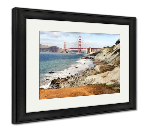 Framed Print, The Golden Gate Bridge From Baker Beach