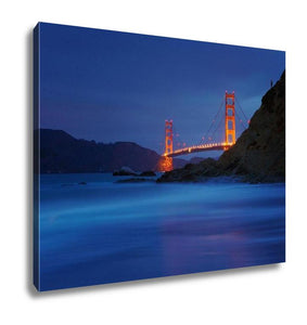Gallery Wrapped Canvas, Golden Gate Bridge At Baker Beach San Francisco California USA