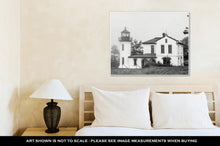 Load image into Gallery viewer, Gallery Wrapped Canvas, Black And White Lighthouse With Haunted Look
