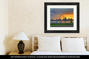 Framed Print, The Gateway Arch In St Louis Missouri