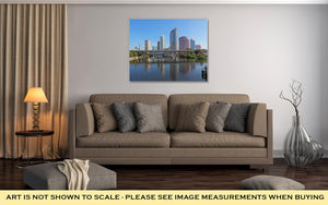 Gallery Wrapped Canvas, Partial Tampa Florida Skyline With Usf Park And Commercial Buildings