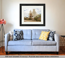 Load image into Gallery viewer, Framed Print, A Mission San Xavier Del Bac Tucson