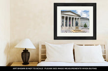 Load image into Gallery viewer, Framed Print, Albert Gallatin Statue Us Flag Us Treasury Department Washington Dc Statue By
