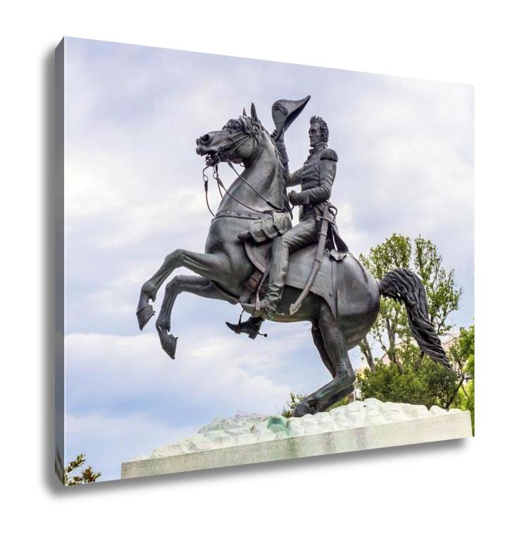 Gallery Wrapped Canvas, Andrew Jackson Statue Presidents Park Lafayette Square Washington Dc Created In