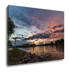 Gallery Wrapped Canvas, Keeper Of The Plains In Wichita Kansas