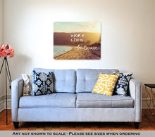 Load image into Gallery viewer, Metal Panel Print, Handwritten Text Over Sunset Beach