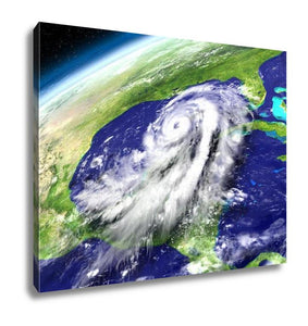 Gallery Wrapped Canvas, Orbit View Of Hurricane Matthew