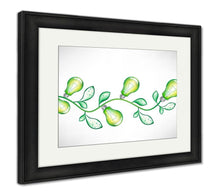 Load image into Gallery viewer, Framed Print, Branch With Green Light Bulbs And Leavesv