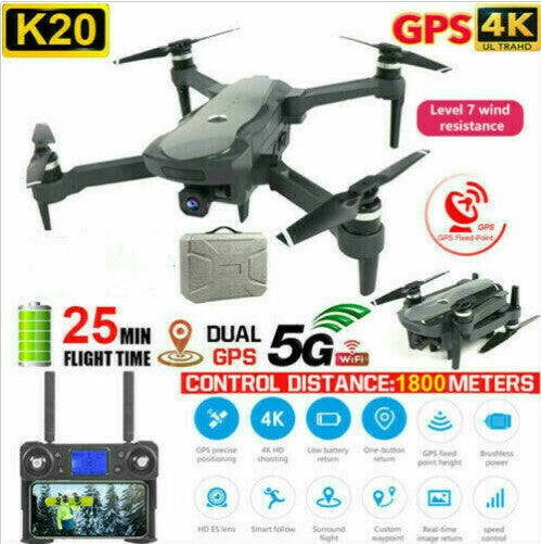 GPS Drone K20 5G WiFi 4K HD wide-angle camera