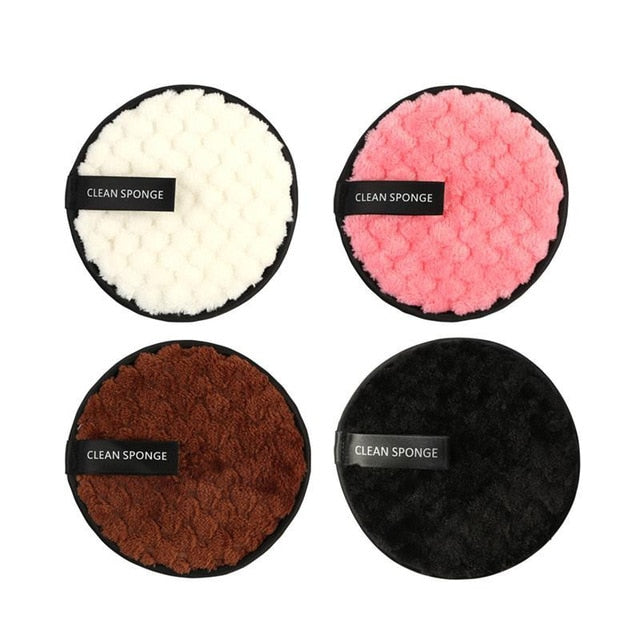 Microfiber Cloth Pads Facial Makeup Remover 4 PCS