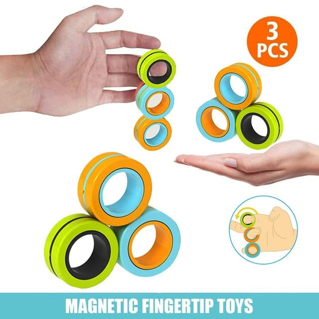 Magnetic Stress Relief Fidget Rings