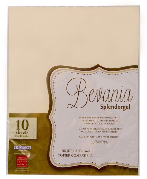 Bevania Splendorgel Specialty Paper 10sheets per pack